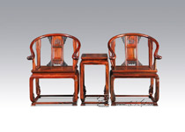 YJ06透雕卷草纹圈椅三件套
